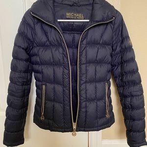 Michael Kors Navy Puffy Women's Coat